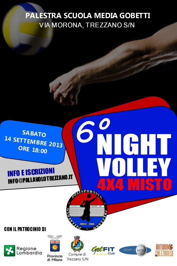 locandina 6 night volley 2013
