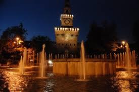 foto castello in notturna
