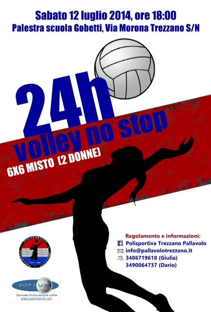 locandina 24 ore di volley