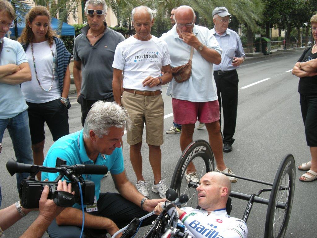 A Chiavari la settima tappa del Giro d'Italia di Handbike-dal nostro inviato Giorgio Cozzi