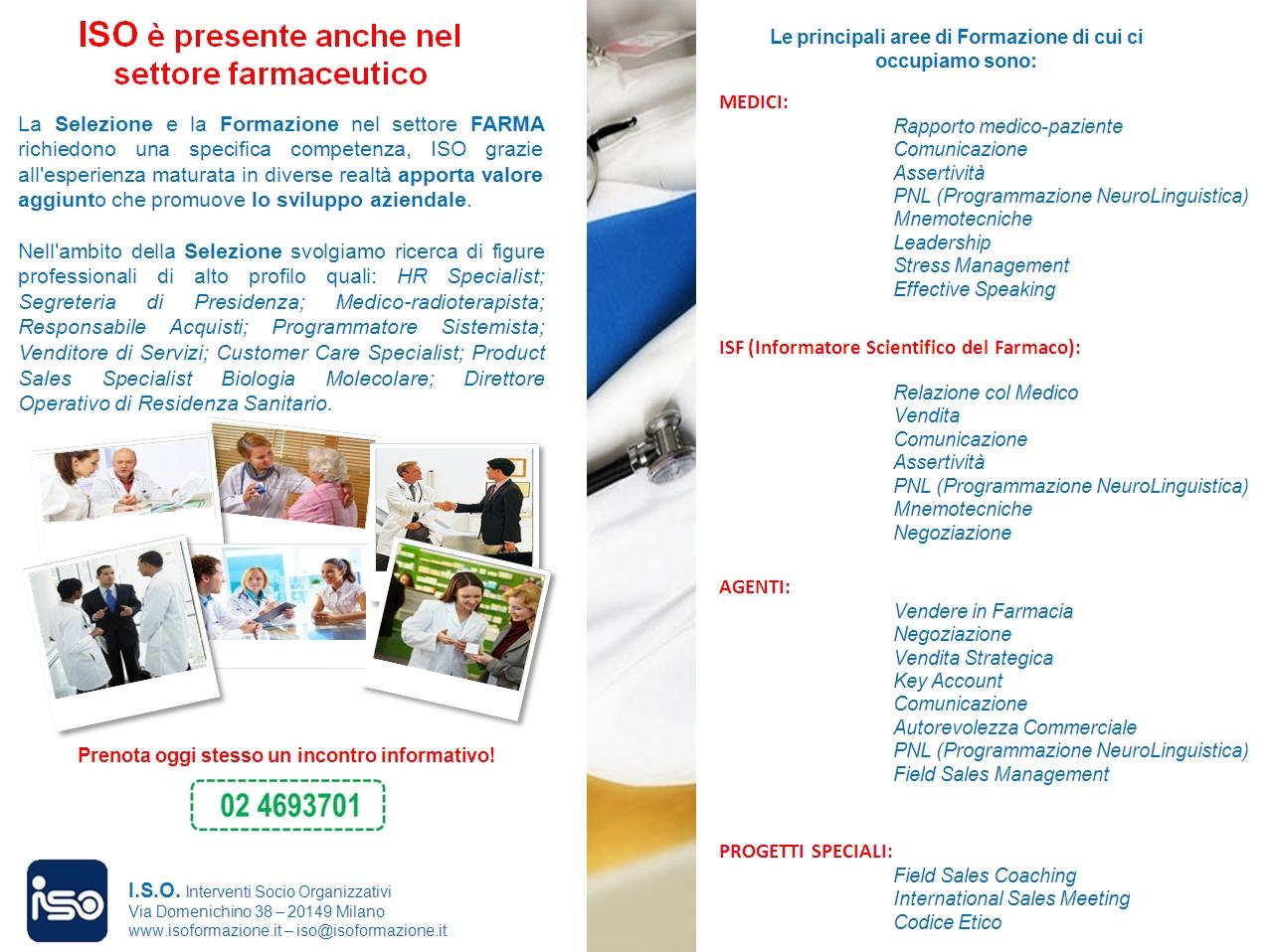 ISOFORMAZIONE è anche nel settore farmaceutico