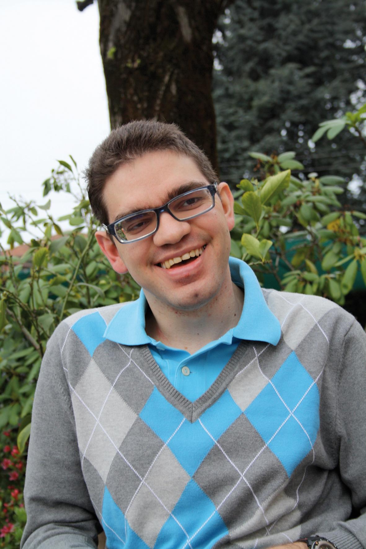 Riccardo, una vita tra disabilità, serenità e desideri