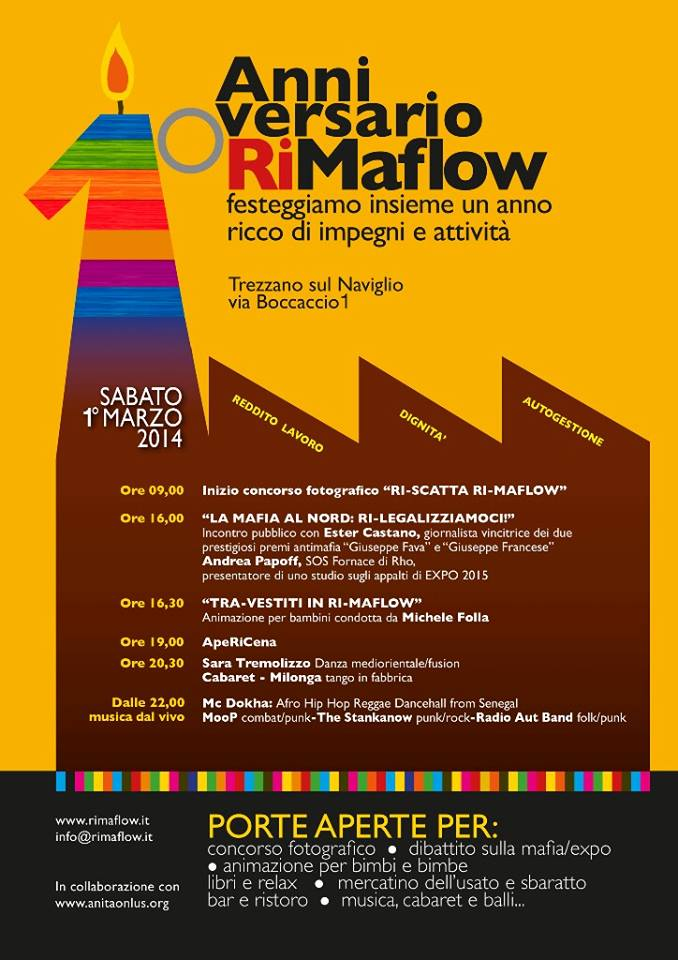 Ri-Maflow, manifestazioni per il 1° anniversario