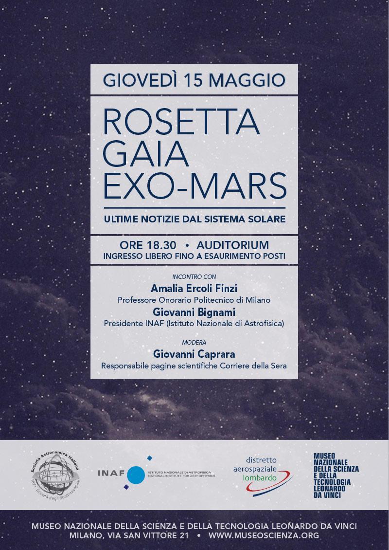 Gaia, Exo, Mars, incontro con Amalia Ercoli Finzi al Museo della Scienza di Milano