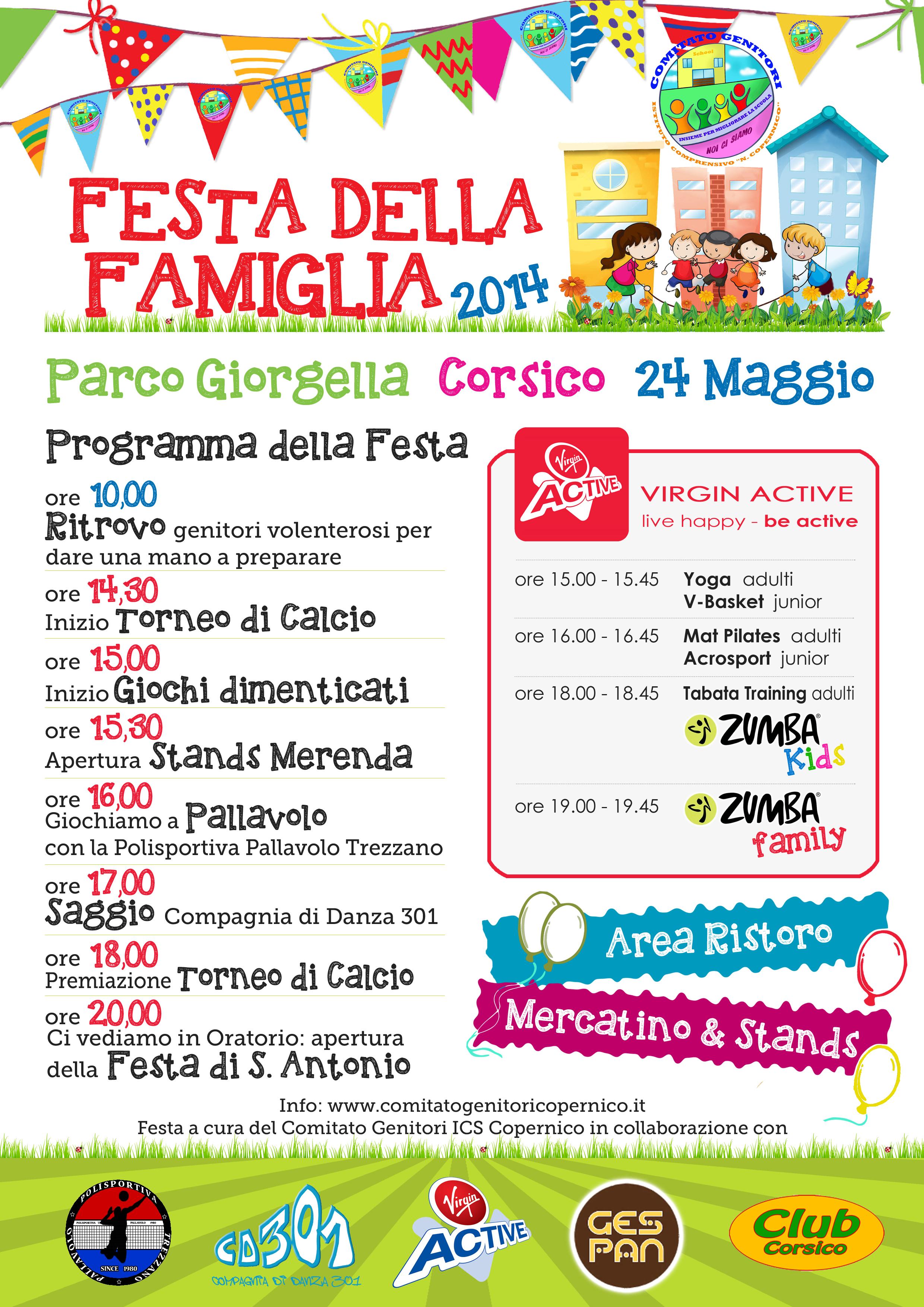 """A Corsico """"Festa della Famiglia"""" con pallavolo, calcio e giochi dimenticati"""