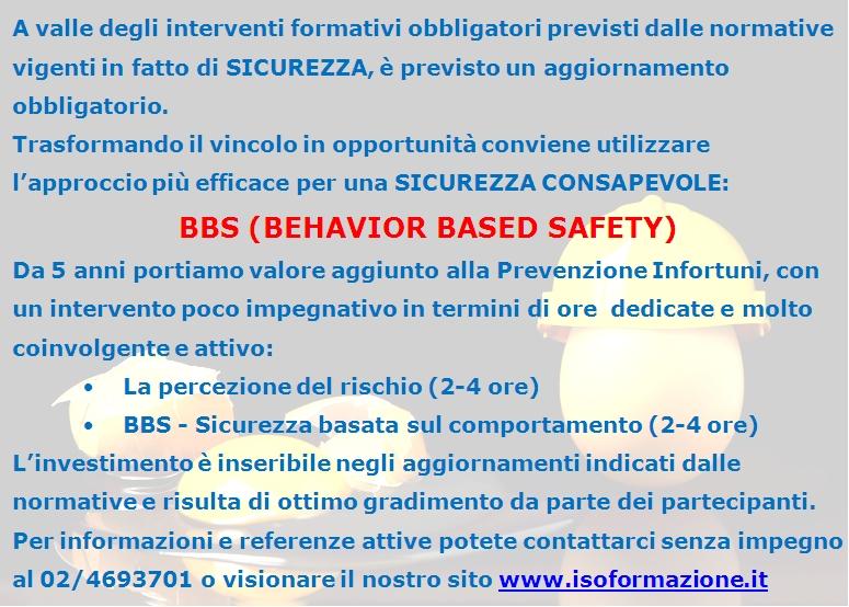 Isoformazione, priorità al BBS, sicurezza consapevole