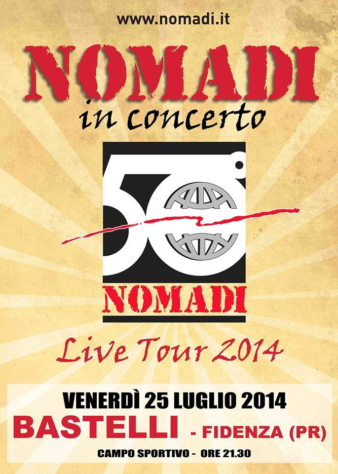 Live Tour 2014, i Nomadi a Fidenza il 25 luglio