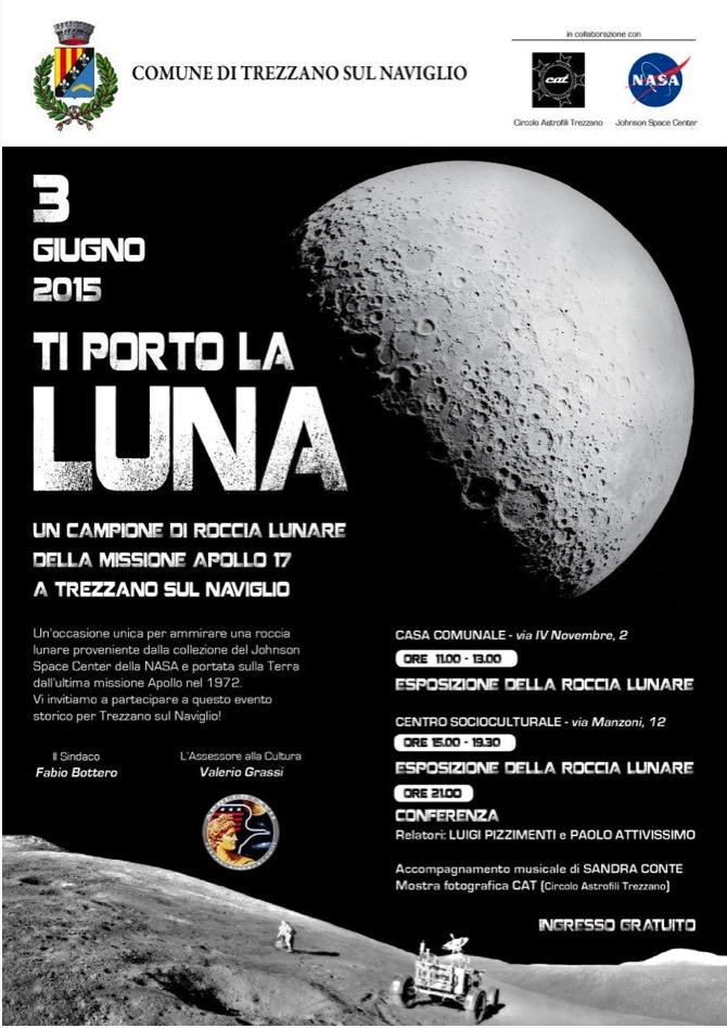 """Circolo Astrofili Trezzano: """" Ti porto la Luna""""…a Trezzano sul Naviglio!!"""